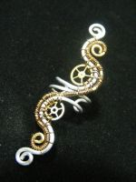 Steampunk Earcuff by BacktoEarthCreations