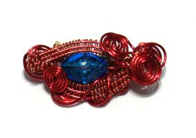 Wire Wrapped Pin - Flame Edition 1 by cakhost