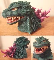Godzilla 2000 Bust Sculpture more progress by AWMStudioProductions