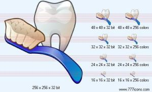 Sound tooth Icon by medical-icon-set