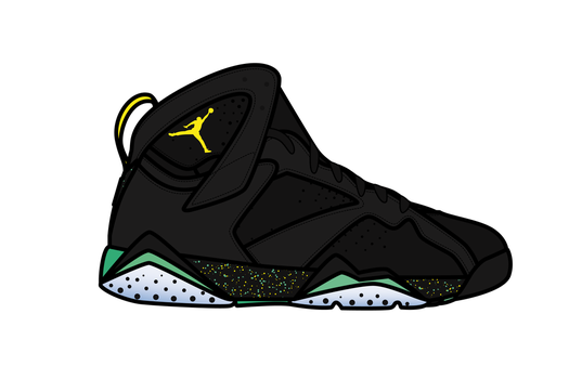 Aj7_air jordan 7_Brazil by kleneg