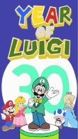 Year of Luigi - Art Academy Drawing by SuperAbachiBros