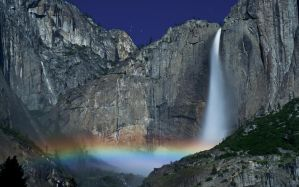 Yosemite Falls Moonbow by MattGranzPhotography