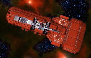 Wedge Freighter 05 by MADMANMIKE