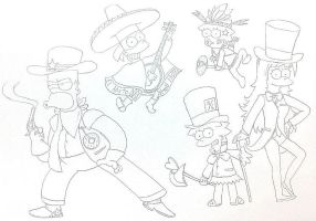 The Simpsons : American Style by komi114