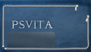 ps vita wallpaper blue leather by Synergy14