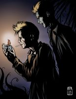 John Constantine and Demon Constantine by JarOfComics