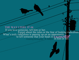 4: The Way I Feel It by HahaaCakes