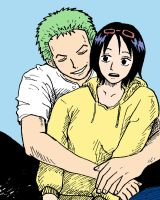 zoro and tashigi by ismere