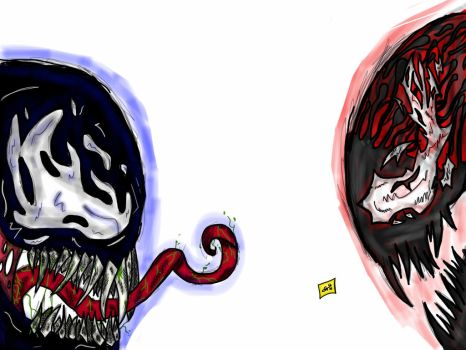 Venom / Carnage No Backgruond Painting by GustavoFTb