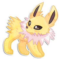 Jolteon sticker by annaza0000