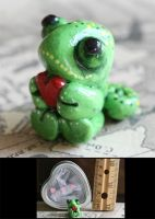 Micro Love Chameleon Sculpture by CatharsisJB