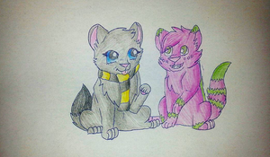 Middy and Echo by TheHufflepuffCat