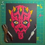 Darth Maul - paper punch portrait by Papergizmo