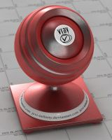 Red Brushed metal VRAY by jevi-infinity