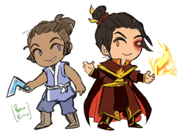 Zuko + Sokka by sesshyfanchick
