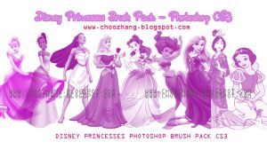 Disney Princesses Brush Pack by chikorimasou