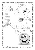 alphabet coloring pages Hh copy by jbeverlygreene