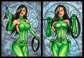MADAME HYDRA PERSONAL SKETCH CARDS by AHochrein2010