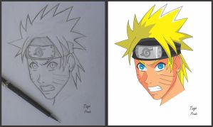 Naruto before and after by Kaio-Silva
