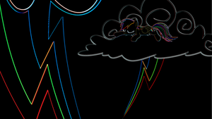 Neon Dashie Wallpaper by uxyd