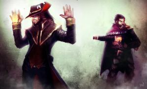 League of Legends Rivals: Twisted Fate vs. Graves by AthavanArt