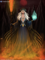 the lady of fire and ice - new version by MwLucYo