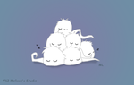 Pile of Fuzzy Ghosts by TwinTwosGirl