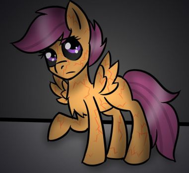 Reanimated Scootaloo fanart by Mikey-the-vulpix