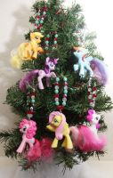 MLP Christmas Tree Ornaments by bluepaws21