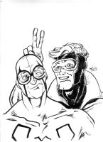blue beetle booster gold by lilmikeegee