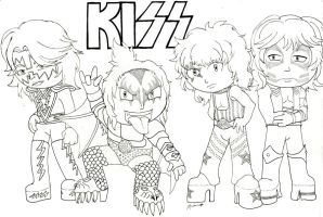Rock and Metal Chibis: KISS by HypoThermus