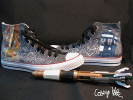 11th Doctor's TARDIS Shoes by caseycreates