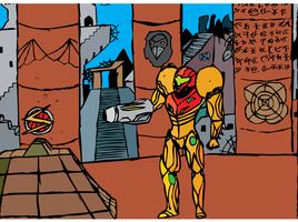 +Samus and the Screw Attack+ by Sora-Oathkeeper