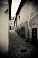 Street in Krems by GlueR
