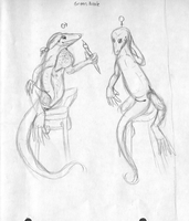 Artistic Anthro anoles by Lucern7