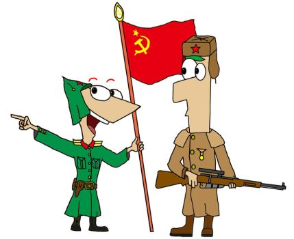Phineas and ferb---Soviet Red Army Soldiers by 0SouthernCross0