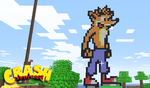 Crash Bandicoot in Minecraft by Terror-Inferno