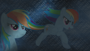 Rainbow Dash wallpaper by Fragin