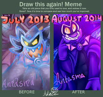 Draw this again meme - Antasma by ScreeKeeDee