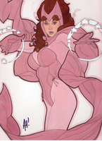 Scarlet Witch by Adam Hughes by captainbananamuffin