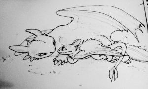 Baby toothless by StitchedUpBears