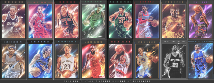 2015 NBA Playoffs by MonsterGrafix