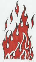 flaming wrist tattoo design by DesignTheSkinYourIn