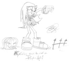 Knuckles raising it on P-Hill by ShadowPaladin