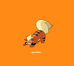 Growlithe 058 by juenavei