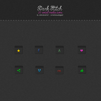 Dark Stitch Social Media Icons by xNiikk