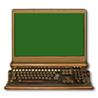 Steampunk Victorian Laptop Icon by pendragon1966