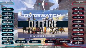 Overwatch Stream pack - Blue and Red by h4nabi
