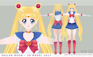 Sailor Moon Model WIP #2 by yesbutterfly